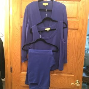 St. John blue pant suit